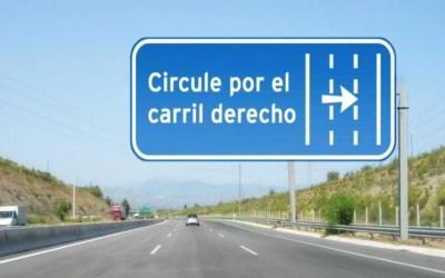 La DGT nos multará por circular por el carril izquierdo