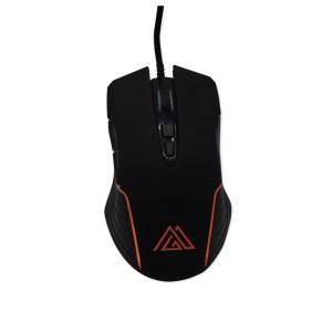 """immagine del mouse """"PM640"""" inserita come immagine prodotto con illuminazione arancione"""