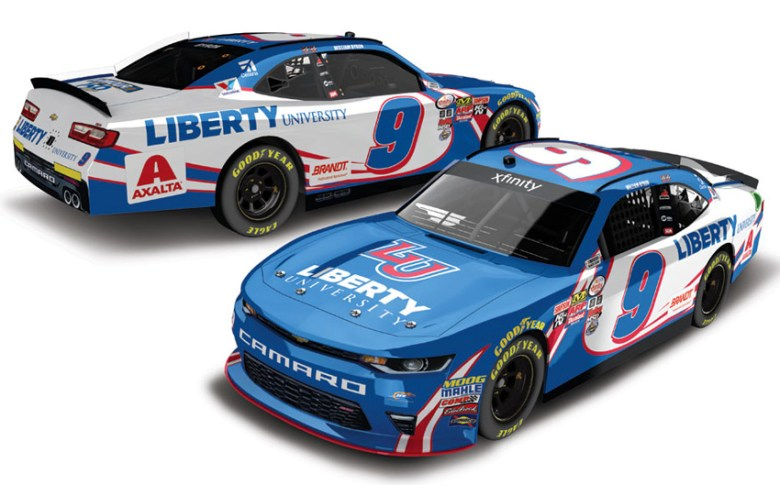2017 William Byron #9 Liberty University - Darlington 1/64 Diecast