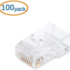 Computer Accessories Cable matters 100 pack cat 6, cat6 rj45 modular plugs for solid or stranded utp cable, rj45 plugs [tag]