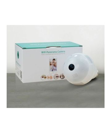 CCTV & Surveillance Systems Generic BULB PANAROMA WIFI CAMERA- 360 Degrees VIEW-B2-R – White [tag]
