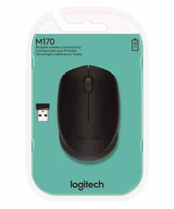 Computer Accessories Logitech M170 2. 4GHz Wireless 3-Button Optical Scroll Mouse w/Nano USB Receiver (Black) [tag]