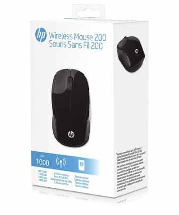 Computer Accessories HP 200 Wireless Optical Mouse (X6W31AA#ABL) Black – New [tag]