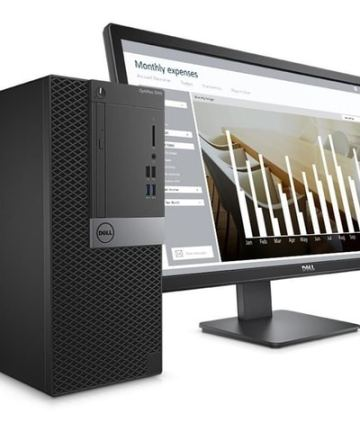 Complete Desktops Dell Optiplex 3050 Mini Tower Business Computer Intel Core i5-4GB RAM-500GB HDD-7700 3.4GHz, 18.5 Inch, Eng Keyboard, DOS, Black [tag]
