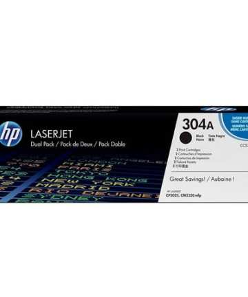 Printers & Accessories HP 304A (CC530A) Toner Cartridges, Black [tag]