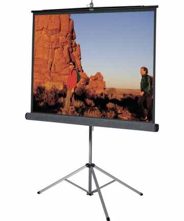 Electronics MANUAL PULL-DOWN PROJECTION SCREEN | 96 X 96 INCHES [tag]