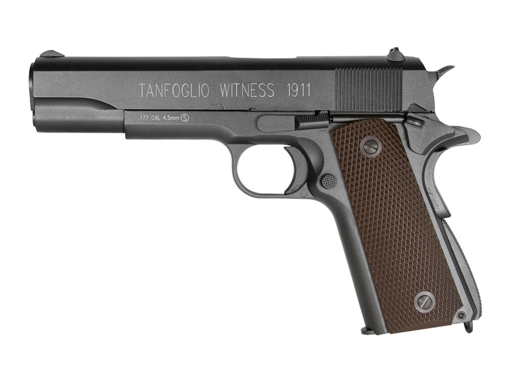 medium resolution of tanfoglio witness 1911 co2 bb pistol brown grips