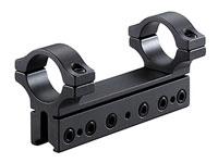 """BKL 1-Pc Mount, 4"""" Long, 1"""" Rings, 3/8"""" or 11mm Dovetail, 6 Base Screws, High, Matte Black"""