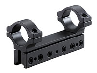 "BKL 1-Pc Mount, 4"" Long, 1"" Rings, 3/8"" or 11mm Dovetail, 6 Base Screws, High, Matte Black"