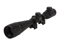 """CenterPoint 4-16x40 AO Rifle Scope, Illuminated TAG-Style Reticle, 1"""" Tube, Picatinny Rings"""