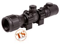 "UTG 3-9x32 AO Bug Buster Rifle Scope, EZ-TAP, Illuminated Mil-Dot Reticle, 1/4 MOA, 1"" Tube, Weaver/Picatinny Rings"