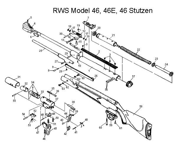 Rws Diana Model 94 Air Rifle Schematic