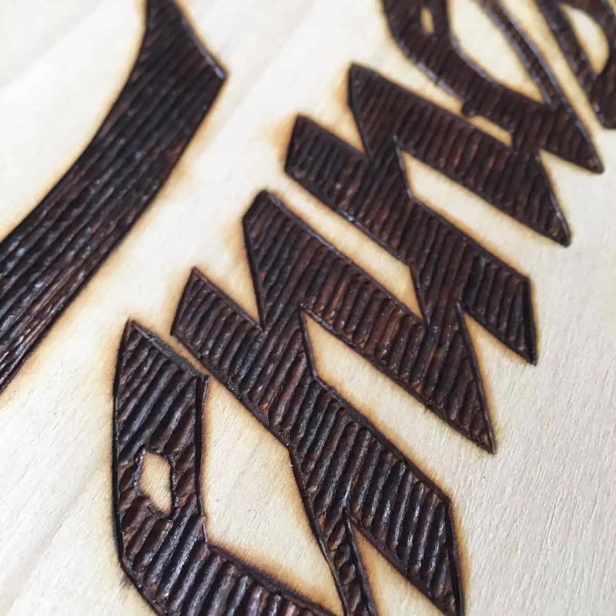 wood burned art