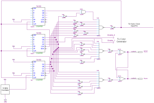 small resolution of view hsync schematic