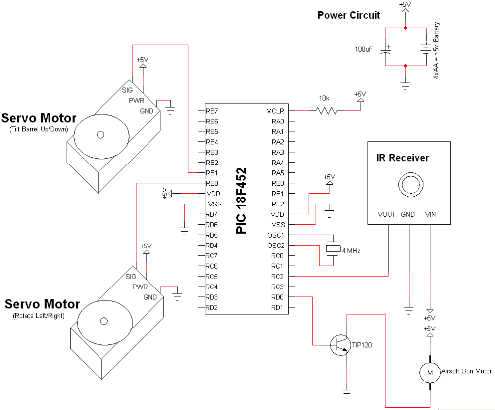 medium resolution of tupperware turret airsoft gun schematic pyroelectro news infrared ir receiver schematic pyroelectro news projects