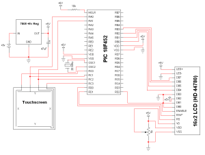 Simple Touch Screen Interface  Schematic | PyroElectro