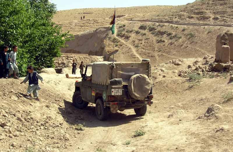 Auf Patrouille in der Nähe von Kundus.