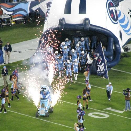 T-Rac, Tennessee Titans, Gerbs, Field Fireworks