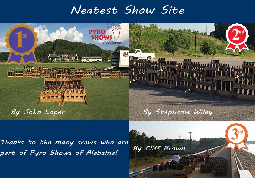 Crew Photo Contest Winners ALABAMA- Neatest Show Site