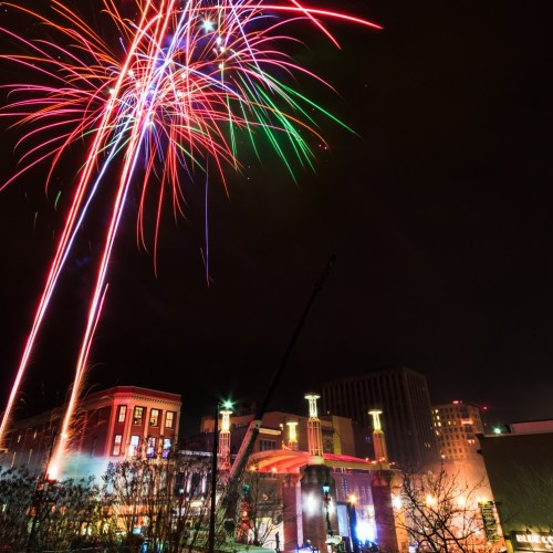 Knoxville, Market Square, New Year's Eve, Fireworks, Pyro Shows, Photo by Garrett Hill