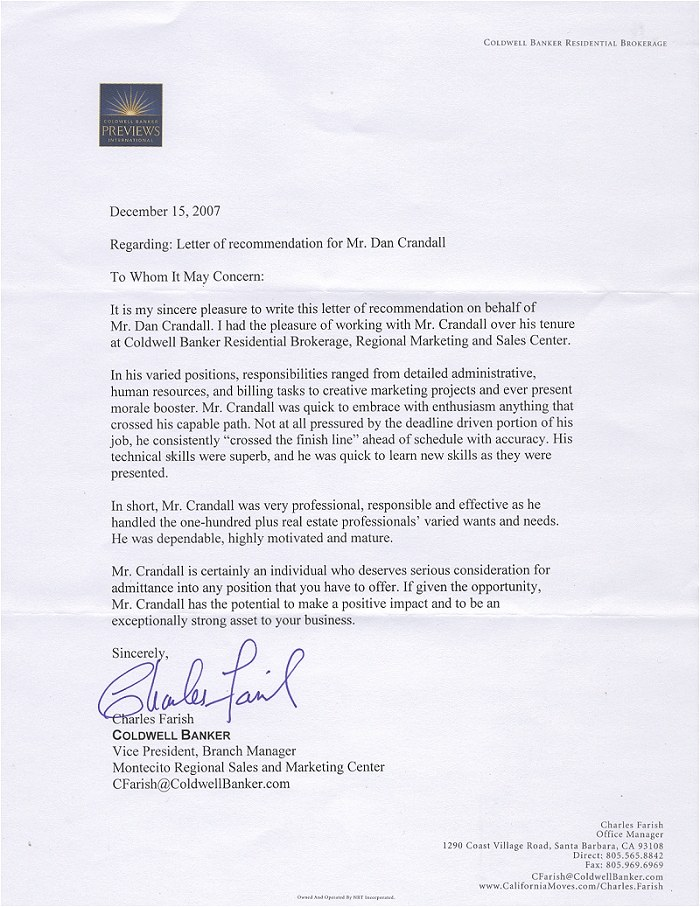 medical assistant reference letter example