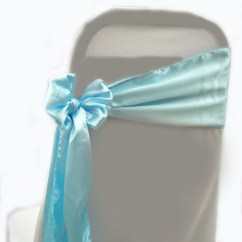 Baby Blue Chair Covers Good Cheap Gaming Chairs Py Textiles Sashes Satin 10pcs Qty 27
