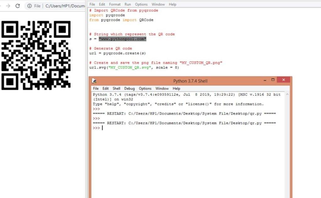 QR Code python