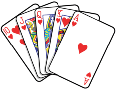 python insertion sort deck of cards