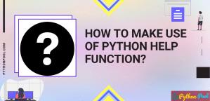 python help function