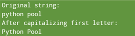 capitalize() Function to Capitalize the first letter of each word in a string in Python