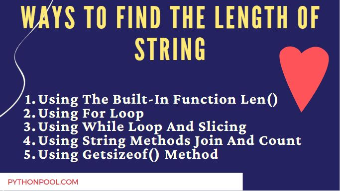 Ways to find the length of string