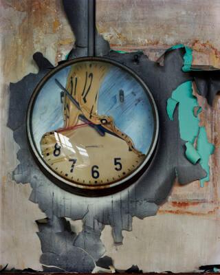 Disassembled detroit clock