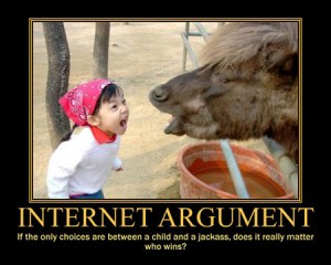 internet argument a child and a jackass