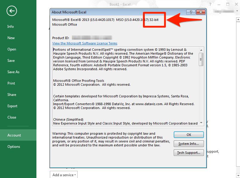 Do I have 32 bit or 64 bit Excel? – PyXLL Ltd