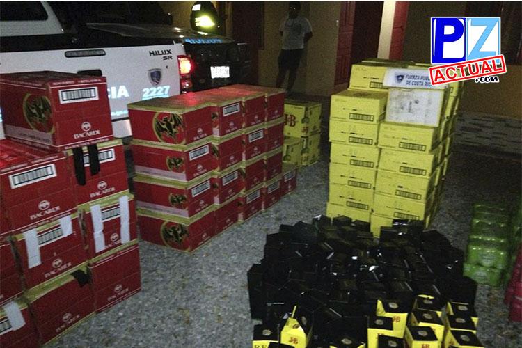 En Sabalito de Coto Brus, policías decomisan millonario cargamento de licor
