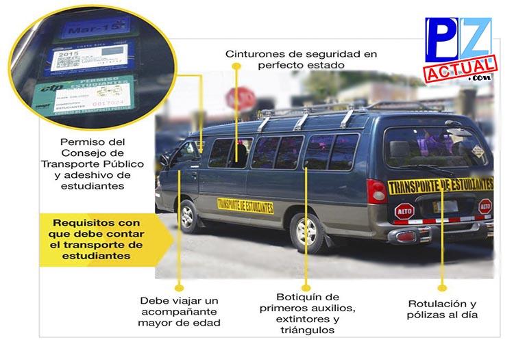 Transportistas de estudiantes sin permiso del CTP no deben de brindar servicio.