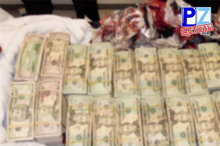 En Paso Canoas cae pareja con cargas millonarias de dinero ocultas en automóvil.