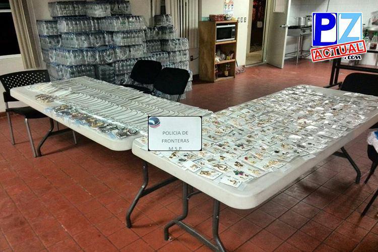 Fuerza Pública decomisa millonario contrabando de bisutería en Golfito.