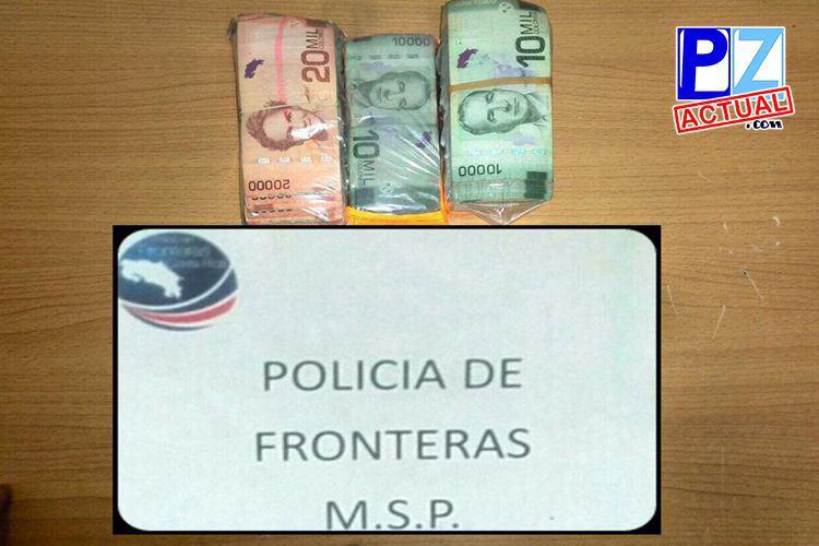 Capturan a tres sujetos con millonaria cantidad de dinero en frontera sur.
