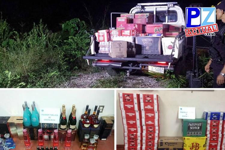 Interceptan más de 2,5 millones de colones en licores contrabandeados en Frontera Sur.