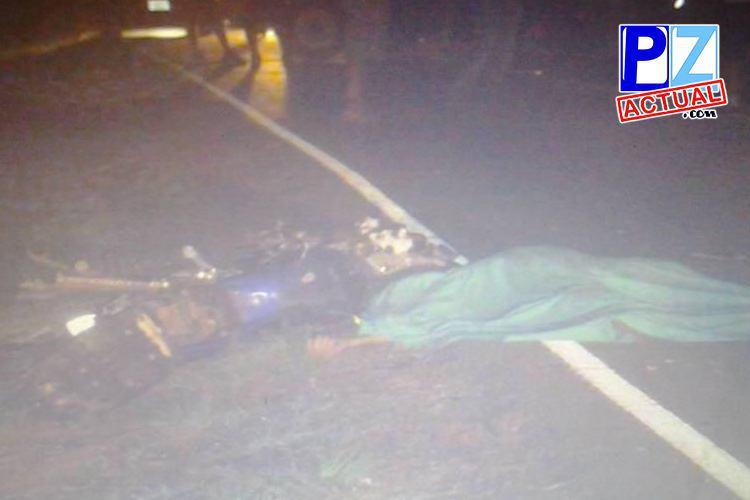 Motociclista fallece tras chocar contra camión en Volcán, Interamericana Sur.