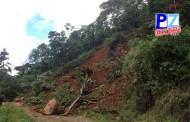 Deslizamiento de tierra cae sobre carretera entre Santa Teresa y Cedral de Cajón.
