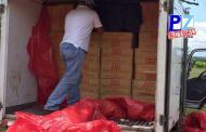 Fuerza Pública de Ciudad Neily  intercepta camión con 660 mil  unidades de cigarrillos.