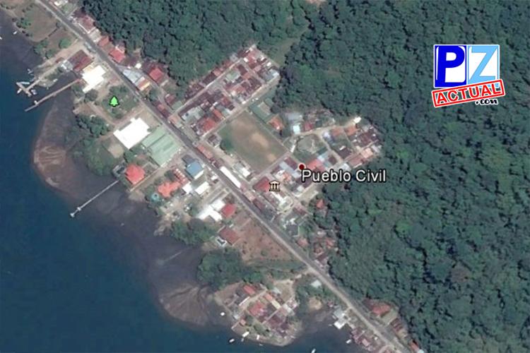 Pueblo Civil, Golfito vista aérea Google Earth www.pzactual.com