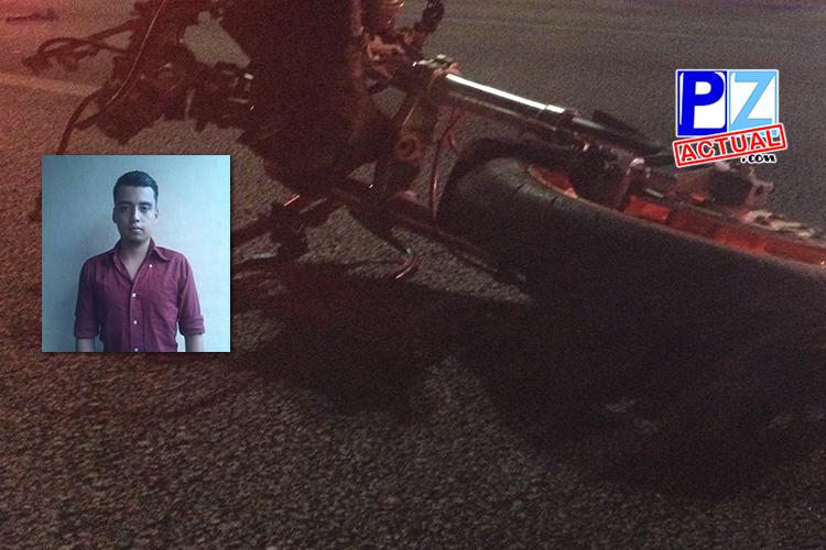 Joven perdió la vida anoche en un accidente de tránsito que se presentó en General Viejo.