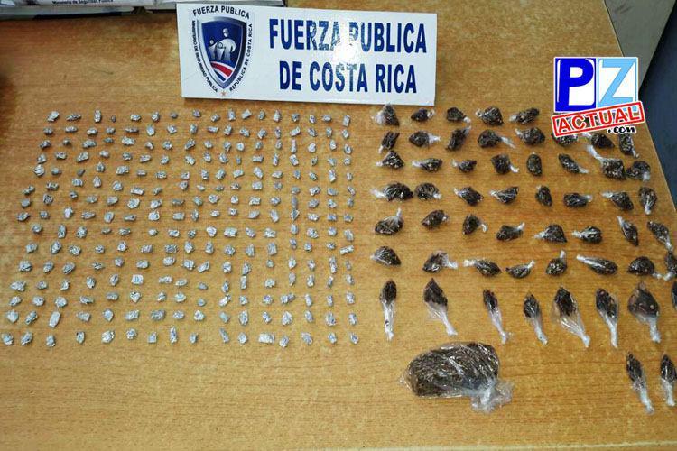 Fuerza Pública saca crack y marihuana de las calles de Parrita.