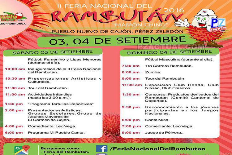Agenda Feria del rambutá, www.pzactual.com