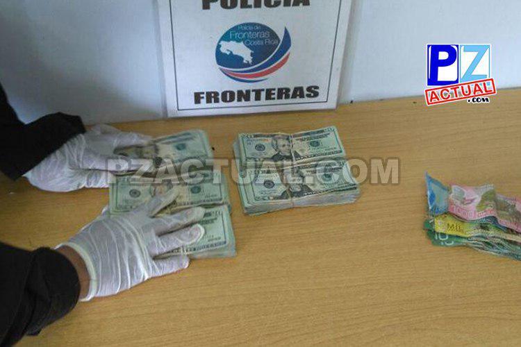 Policía de Fronteras decomisó 23.780 dólares al revisar dos carros en Guaycará de Golfito.