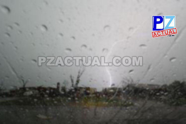Fuerte actividad lluviosa y eléctrica es el pronóstico para hoy.