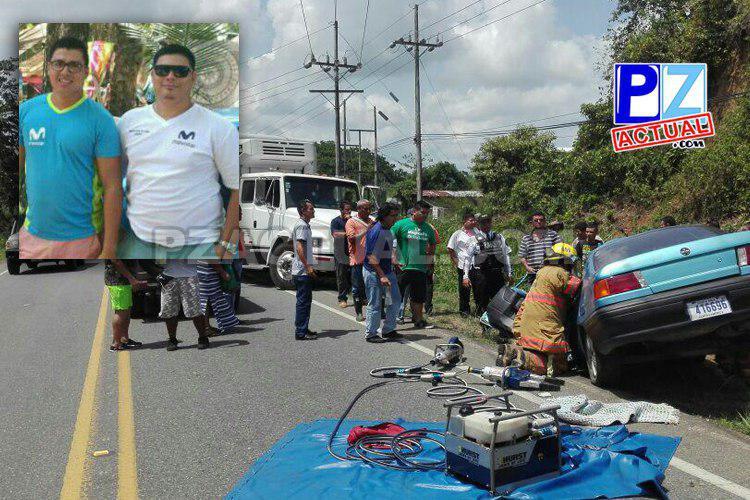 Dos personas perdieron la vida tras sufrir un accidente de tránsito en Palmar Norte.